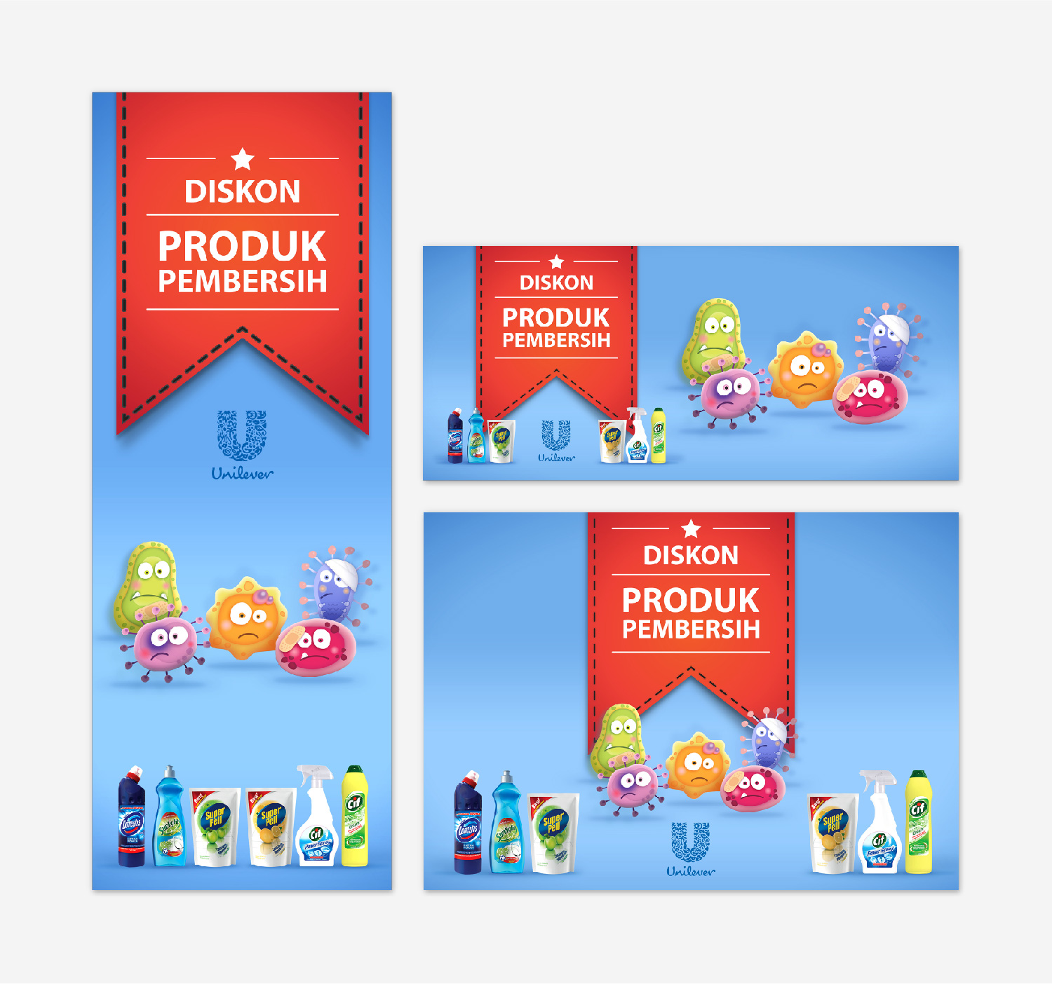 Unilever Indonesia Cube Banner Produk Flyer Various Sizes